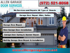 #1 Garage Door Repair, Spring Repair & New Installation $25.95 | Allen Dallas, 75071 TX