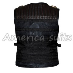 Expendables 3 Sylvester Stallone Leather Vest