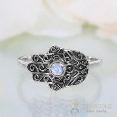 Moonstone Ring-Fatima Blessing