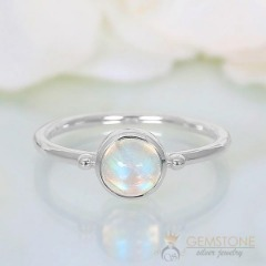 Moonstone Ring-Smooth Honor