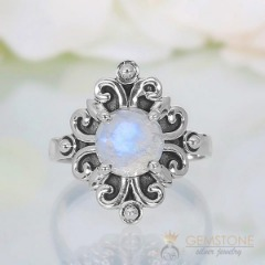 Moonstone Ring-Ancient Vampire