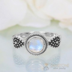 Moonstone Ring-Specks Of Fortune