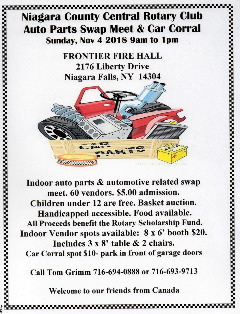 NCC Rotary Club Auto Parts Swap Meet & Car Corral