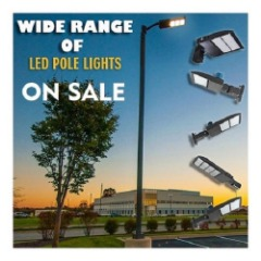 Wide Range of LED Pole Lights for Outdoor Lighting
