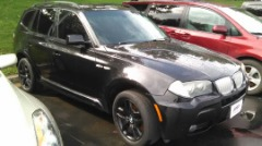 2008 BMW X3 AWD BLACK/BLACK