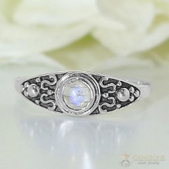 Moonstone Ring-Fiery Trance