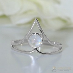 Moonstone Ring-Dainty Luster