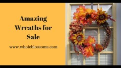 Buy fresh boxwood, fall and magnolia wreath at an affordable cost