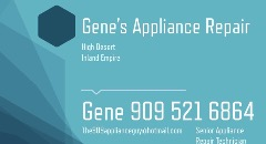 Gene's Appliance Repair Services 909.521.6864