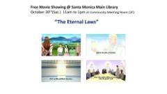 Oct-20(Sat.) 11am-1pm: Free movie showing at Santa Monica Main Library