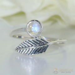 Moonstone Ring-Hoops Of Nature