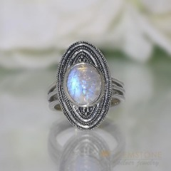 Moonstone Ring-Immense Cajole