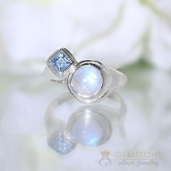 Moonstone Ring-Symbiotic Love