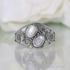 Moonstone Ring-Watchful Protector