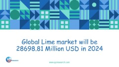 Global Lime market will be 28698.81 Million USD in 2024