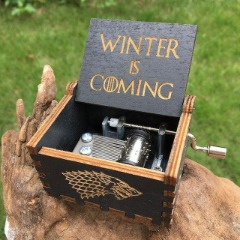 Game of thrones Antique Carved wooden Musical Boxes