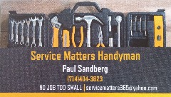SERVICE MATTERS HANDYMAN SERVICES
