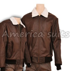 B2 Bomber Shearling Leather Jacket