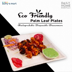 Buy Eco-friendly Areca Leaf Party Disposable Plates Online USA | Samy's Mart Amazon