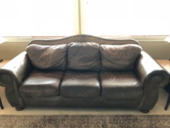 Leather Sofa & Love Seat
