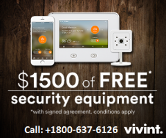 Home Security System free upgrade with additional $1500 worth equipment free. +1800-637-6126