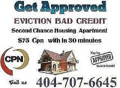 404-707-6646 Bad Credit EVICTIONS Second Chance Rentals CPN Number NUMBERS