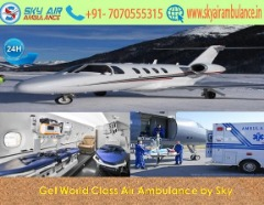 India's Top Class Air Ambulance Service in Dibrugarh by Sky