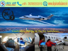 Urgently Shifting by Sky Air Ambulance Service in Siliguri