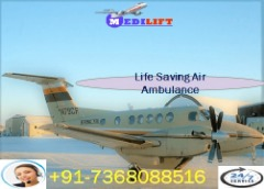 Minimum Price Air Ambulance Service in Nanded with MD Doctor