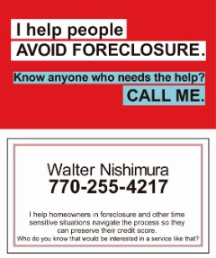I help people avoid Foreclosure