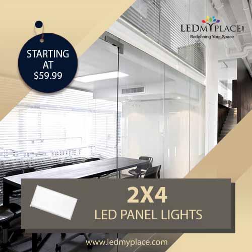 Install 2x4 LED Panel Lights For Better Indoor Lighting
